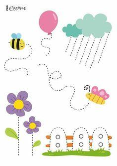 Shapes Worksheets, Kindergarten Math Worksheets, Tracing Worksheets, Preschool Writing, Preschool Learning Activities, Printable Shapes, Free Printable, Toddlers, Ideas