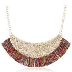 Women's Tassel Necklace for Women Ethnic Tassels Statement Necklaces & Pendants NEW Fashion Jewelry for Gift to a Woman Tassel Necklace, Tassels, Jewelry, Fashion, Moda, Jewlery, Jewerly, Fashion Styles, Schmuck