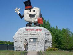 Happy Rock in Gladstone, Manitoba