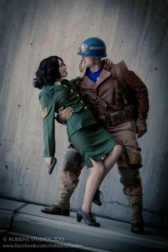Peggy Carter & Captain America cosplay How sweet Best Cosplay Ever, Epic Cosplay, Marvel Cosplay, Amazing Cosplay, Cosplay Ideas, Costume Ideas, Disney Cosplay, Peggy Carter, Agent Carter