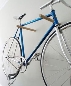 This must be the most minimal and beautiful bike wall mount I have seen.