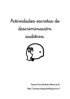 Actividades escritas de discriminación auditiva