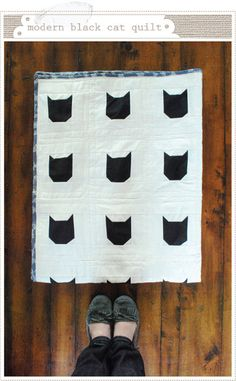 Tutorial: Modern Black Cat quilt · Quilting | CraftGossip.com