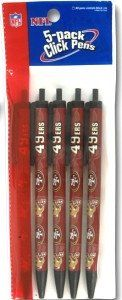 San Francisco 49ers Click Pens - 5 Pack