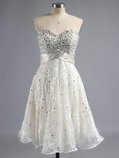 Beading Homecoming Dresses, A-line Sweetheart Club Cocktail Dresses, Lace Short Graduation Party Gowns