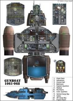 Gunboat interior by 0-hr on DeviantArt  #5 of the FUTURE ARMADA series.