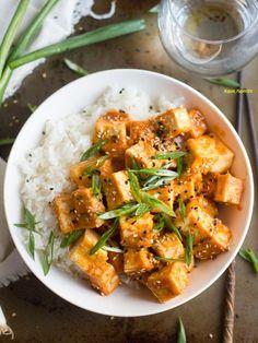 Thanks. Vegan Entree Recipes, Vegan Recipes Videos, Tofu Recipes, Delicious Vegan Recipes, Vegan Dinners, Whole Food Recipes, Healthy Recipes, Tofu Meals, Healthy Food