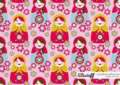 Lillestoff Matroschka in Pink GOTS knit by enemenemeins 50cm x 150cm