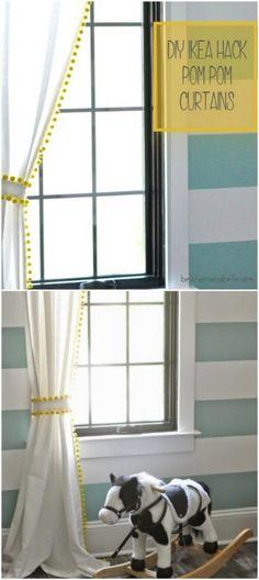 Ikea Hack Pom Pom Curtains