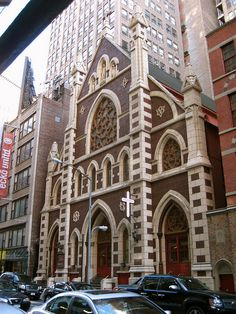 Church of the Holy Innocents (1869–70); Architect: Patrick C. Keely. Herald Square, Garment District, New York City