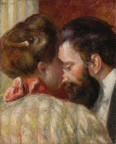 Pierre-Auguste Renoir - Confidence. ▓█▓▒░▒▓█▓▒░▒▓█▓▒░▒▓█▓ Gᴀʙʏ﹣Fᴇ́ᴇʀɪᴇ ﹕ Bɪᴊᴏᴜx ᴀ̀ ᴛʜᴇ̀ᴍᴇs ☞ http://www.alittlemarket.com/boutique/gaby_feerie-132444.html ▓█▓▒░▒▓█▓▒░▒▓█▓▒░▒▓█▓