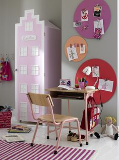 A doll house door for shelves and it could sit beside a dollhouse or be another dollhouse.
