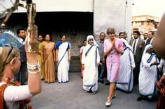 February 15, 1992 - Princess Diana in Calcutta, India with Mother Teresa