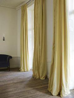 pale lemony curtains... Rose Uniacke - Interiors - Jo Malone Headquarters, London