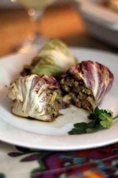 Recipe: Asian Cabbage Rolls with Spicy Pork — Cookbook Recipe