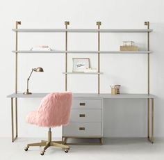 Avalon Double Desk Study Wall With Drawers