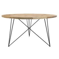 Runder Eichen- & Stahl-Tisch