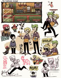 +KnT - Happy Melon Doodles+ by Z-Doodler.deviantart.com on @DeviantArt