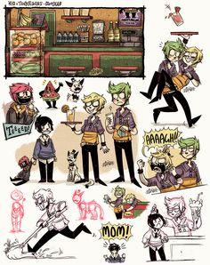 +KnT - Happy Melon Doodles+ by Z-Doodler.deviantart.com on @DeviantArt