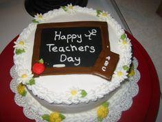 Need Ideas For Preschool Graduation Cake. Teachers Day Cake, Teachers Day Wishes, Happy Teachers Day, Eggless Pineapple Cake, Buy Cake Online, Fondant Cake Designs, Fresh Fruit Cake, Cake Templates, Cake Name