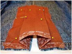 DIY Kick Pleat Filler | Modesty Matters Blog fixing a too high slit in a skirt?