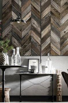Holzeffekttapete, Chevron Tapete, Hintergrund Dekor, Hintergrund Ideen,  Fischgräten Fliese, Mustertapete,