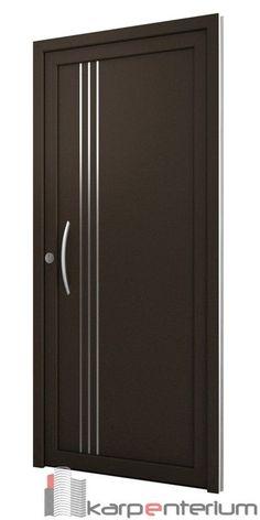 Puerta moderna B15-1 #cocinasmodernasmadera Flush Door Design, Single Door Design, Wooden Front Door Design, Home Door Design, Bedroom Door Design, Door Gate Design, Wooden Front Doors, Interior Door Styles, Door Design Interior