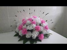 Gladiolus flower paper flower with crepe paper craft tutorial wedding decor paper carnation flower arrangement youtube mightylinksfo