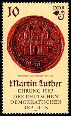500. Geburtstag von Martin Luther (I): Stadtsiegel von Eisleben (um 1500