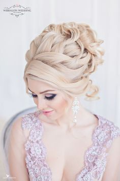 Best Ideas For Wedding Hairstyles : Featured Hairstyle: Websalon Wedding – Anna Komarova; Arabic Hairstyles, Best Wedding Hairstyles, Party Hairstyles, Bride Hairstyles, Amazing Hairstyles, Wedding Hair And Makeup, Hair Makeup, Medium Hair Styles, Curly Hair Styles