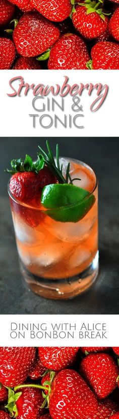 The classic Gin & Tonic gets a delicious twist with strawberry syrup for a Strawberry Gin & Tonic.
