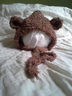 Brown Bear Hat by Blooming Rose Crochet. $14.00