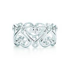 Paloma's Venezia Goldoni heart band ring in sterling silver.
