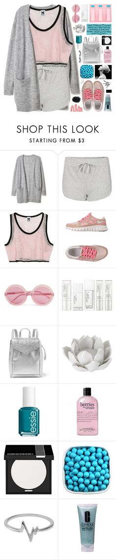 """""""mel's 10k challenge"""" by symone-i ❤ liked on Polyvore featuring Topshop, Missoni, NIKE, Wildfox, NARS Cosmetics, Loeffler Randall, Pavilion Broadway, Essie, philosophy and MAKE UP FOR EVER"""