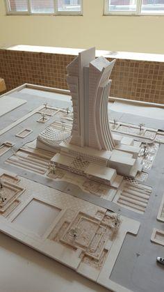 Model, Architecture Department / University of Sulaimani Maquette Architecture, Form Architecture, Architecture Model Making, Architecture Concept Diagram, Futuristic Architecture, Architectural Scale, Arch Model, Modelos 3d, Building Design