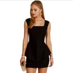 Black peplum dress Black peplum dress, super cute!!! Size small and never worn. WINDSOR Dresses