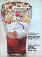 Coke at the Stadium 1968 Ad Picture