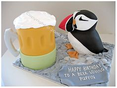 Animal Novelty Cakes, Novelty Cakes Sydney, 21st Birthday Cakes, Novelty cake designs, Kid Birthday Cakes I NEED A PUFFIN CAKE!!!