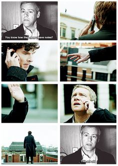 """""""I can't wait to see how he was affected by Sherlock suicide. I would think he blames himself, to an extent."""""""