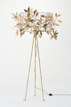 WOW. Vertical Garden Lamp #anthropologie #obsessed #home #decor #lighting #lights #lamps #leaves #branches #tree #gold