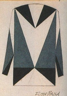 Considered the father of Futurist fashion, Giacomo Balla began designing textiles and suits in 1912/1913. Art is not a luxury, it is a necessity.