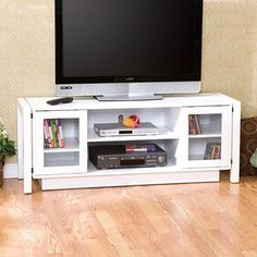 White TV Stand/ Media Console   Overstock™ Shopping - Great Deals on Upton Home Entertainment Centers