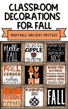 Fall Classroom Door, Halloween Classroom Decorations, Middle School Classroom, Classroom Walls, Classroom Posters, Kindergarten Classroom, Classroom Window, Future Classroom, Classroom Bulletin Boards