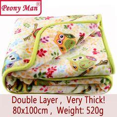 Flannel Baby Blanket Newborn Faux Fur Super Soft Cartoon Blankets 80x100cm For Beds Thick Warm Kids Fleece Throw