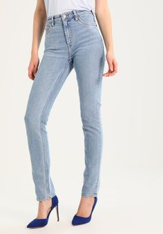 WAY - Straight leg -farkut - swish blue @ Zalando. Blue Denim, Blue Jeans, Kermit, Pants, Fashion, Taupe, Moda, Trousers, Fashion Styles