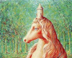 The fine idea - Rene Magritte 1964 René Magritte 1898 - 1967  More @ FOSTERGINGER At Pinterest