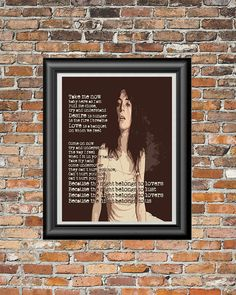 Because The Night by Patti Smith printable by PrintableSongParts