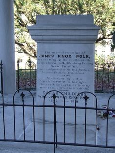 James Knox Polk (1795 - 1849) Tennessee State Capitol, Nashville, Tennessee