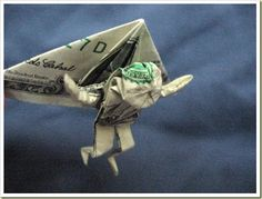 Hang Glider Oragami Made Out of Money...