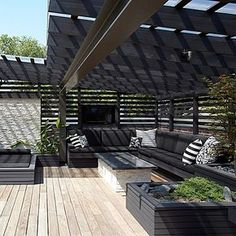 A roof terrace to dream! See bio link. # Roof terrace # dome # thought . Terrace Design, Outdoor Decor, Pergola With Roof, Dream Patio, Modern Garden, Pergola Plans, Roof Design, House Roof, Backyard House